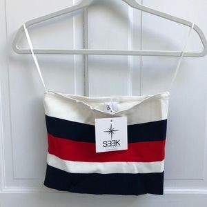 Red/White/Navy Striped Seek the Label/LF Tube Top